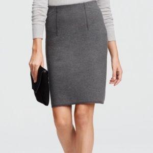 Ann Taylor Grey Ponte Pencil Skirt